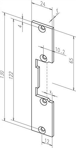 Flachschließblech kurz KL, 24 x 130 x 3 mm, 09635-01, Edelstahl ; 1 Stück