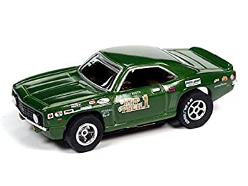 Auto World Xtraction R32 1969 Chevy Camaro Wally Booth Rat Pack HO Scale Slot Car