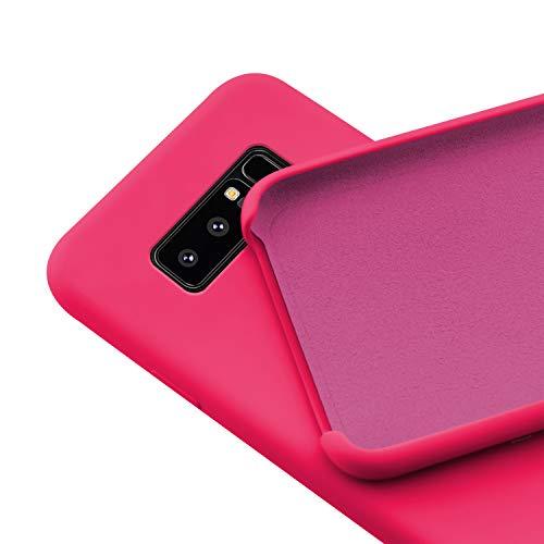 N NEWTOP Custodia Cover Compatibile per Samsung Galaxy Note 8, Ori Case Guscio TPU Silicone Semi Rigido Colori Microfibra Interna Morbida (Fucsia)