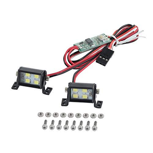 Nobranded Proyector LED RC Súper Brillante para Axial SCX10 TRX6 90046110 1/10 RC Car Truck Monster Truck Repuesto para Vehículos