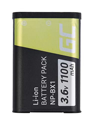 Green Cell® NP-BX1 Batería para Sony DHR-MV1 DSC-H400 HX50V HX60V HX300 HX400V RX1 RX1R RX100 RX100M WX300 WX300R WX300W, HDR-AS10 AS30V AS100V CX405 Cámara, Full Decoded (1100mAh 3.6V)