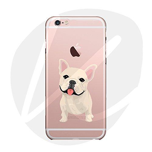 (Sleeping bear) Apple iPhone X Funda Carcasa,Pequeño Animal Perro Lindo De La Historieta Patrón TPU Silicona Caso Funda Cover Carcasa+Cuerda de Seguridad -Bulldog francés
