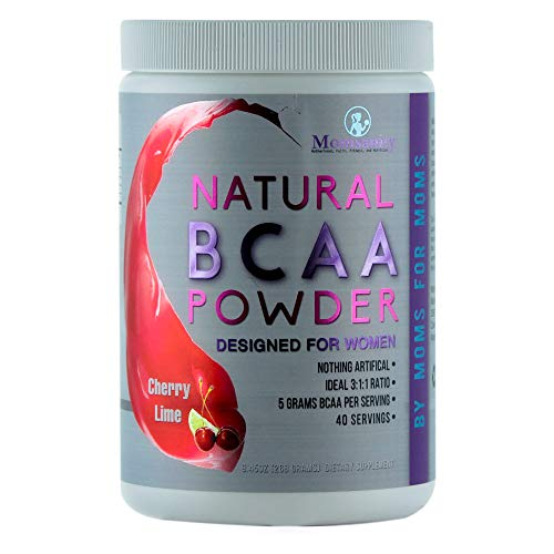 BCAA Powder Preworkout for Women - BCAA Amino Sweetened Naturally with Stevia, Erythritol, & Monk Fruit - 40 Servings + Free Delicious Recipe Guide PDF (Cherry Lime)