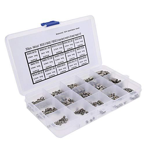 Insertos roscados, kit de instalación de metal duradero M3x0.5 M4x0.7 M5x0.8, mantenimiento de reparación para profesionales del hogar