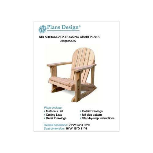 Adirondack rocking chair plans Comfortable Child Adirondack Rocking Chair Woodworking Plans Trace Cut odf22 Outdoor Furniture Woodworking Project Plans Amazoncom Amazoncom Child Adirondack Rocking Chair Woodworking Plans Trace Cut