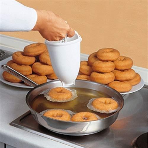 Stampo in plastica per ciambelle, utensile fai da te, utensile da cucina per pasticceria domestica, semplice, rimovibile, comodo, accessorio per ciambelle e pancake regolabile (colore bianco)