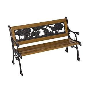 KINDER-GARTENBANK: Spielen Sie, ruhen Sie sich aus oder genießen Sie einen Snack auf diesem Gartenstuhl, der lang genug für 2 Kinder ist, um sich zu entspannen. KINDERFREUNDLICHES DESIGN: Dieser Kinder-Strandstuhl hat eine Größe und Sitzhöhe, die Ihr...
