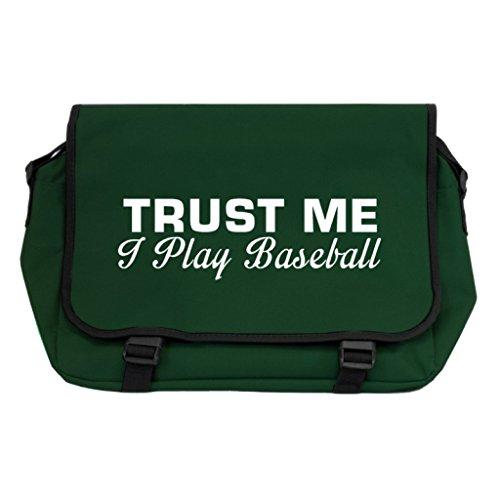 Trust Me I Play Baseball Messenger Bag–Flasche Grün