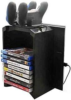لجهاز سوني Playstation 4 - مجموعة حامل تخزين متعدد الوظائف مع حامل وحدة تحكم واقراص تخزين الالعاب