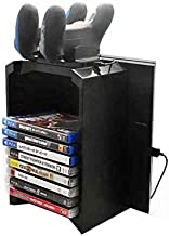 For Sony PlayStation 4 PS4 - Multifunctional Storage Stand Kit with Console Stand Game Disk Storage