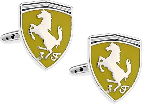 Montebello Ferrari Manschettenknöpfe - 316L Stahl - Autologo - 17x21.5mm