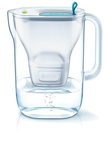 BRITA Styleazul - Jarra de Agua Filtrada con 1 cartucho MAXTRA+, Filtro de aguaBRITA que reduce la cal y el cloro, Agua filtrada para un sabor óptimo, 2.4L