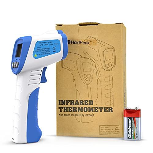 Termómetro Infrarrojo Digital sin Contacto HoldPpeak -50 a 1500 ℃(-150 a 2732 ℉) Pistola de Medición de Temperatura Láser Infrarroja, con Retroiluminación LCD, Adecuada para Uso Industrial o Doméstico