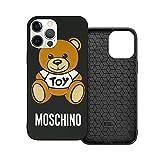Compatible con iPhone 12/11 Pro MAX 12 Mini SE X/XS MAX XR 8 7 6 6s Plus Funda Mos-Chi-No Toy Bear Black Cajas del Teléfono Cover