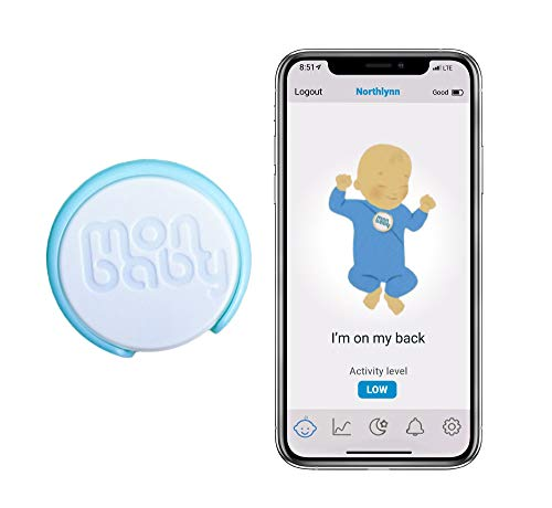 MonBaby(E) Baby Sleep Monitor with Breathing and Rollover Sensors Live Tracks Breathing, Body Movement - Portable and Accurate Movement Monitoring. Easy Set-Up.