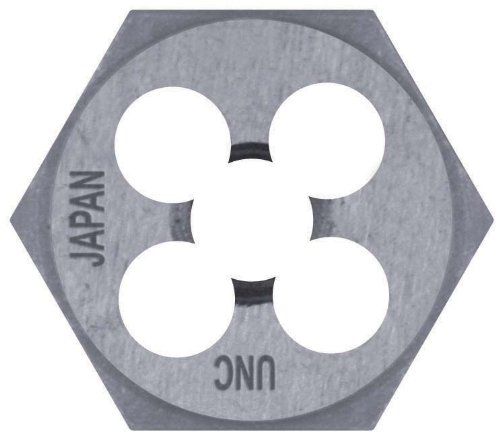 Century Drill & Tool 97617 High Carbon Steel Metric Hexagon Die, 12.0 x 1.25
