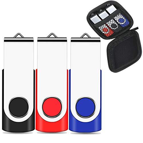 EASTBULL - Chiavetta USB 2.0, 32 GB, 3 pezzi, multicolore