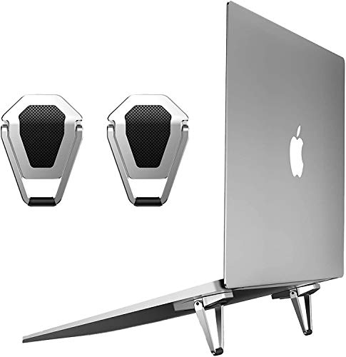 Laptop Notebook Stand Portable Laptop Stand, Shield Shape Laptop Computer fold-able Stand...