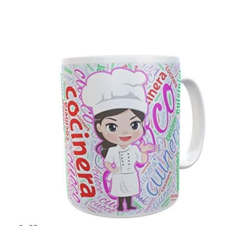 SAQUITOMAGICO Tazas de Desayuno para Las Mejores Profesiones (cocinera)