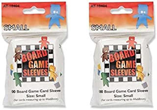 Arcane Tinmen Small Board Game Card Sleeves – 44mm x 68mm – Bundle of 2 – 200 Sleeves Total
