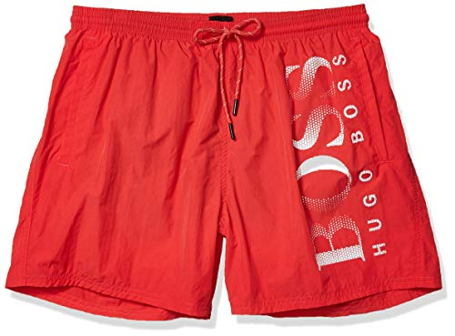 Hugo Boss Herren Octopus Swim Trunk Badehose, Hell/Pastellrot, Small