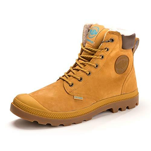 Palladium Pampa Sport Shearling Waterproof, Unisex-Erwachsene, Klassische Stiefel, Gelb (846 Amber Gold/Mid Gum ), 44.5 EU