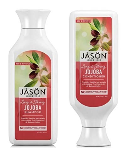 Jason Long & Strong Jojoba Pure Natural Shampoo and Conditioner Duo - 16 oz by Jason