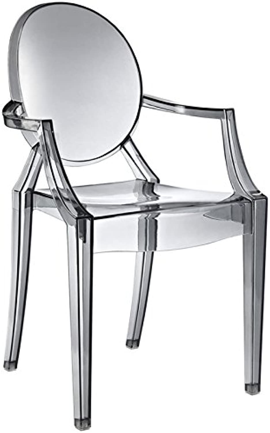 Hawthorne Collections Dining Arm Chair in Smoke