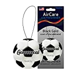 HookUp Scents Car Air Fresheners | Hanging Sports Themes Air Fresheners Provides Long Lasting Fragrance in your Sports Bags, Home Decor, Bathroom Decor, Office Decor | Car Air Purifier is an addition in your Car Accessories | Black Gold (Soccer ball Air Freshener), 5 Count,1 Pack