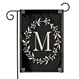 MSGUIDE Classic Monogram Letter M Garden Flag...