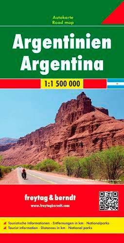 Argentinien, Autokarte 1:1,5 Mio.: Wegenkaart 1:1 500 000 (freytag & berndt Auto + Freizeitkarten)