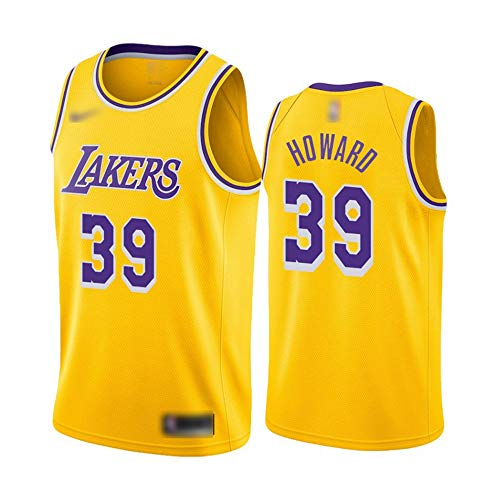 ATI-HSKJ Herren-Basketball-Trikots # 39 Dwight Howard Gelb Basketball-Spiel Fans Uniform Westen Retro Breath Sleeveless T-Shirt Jersey BH008,L:175cm~180cm