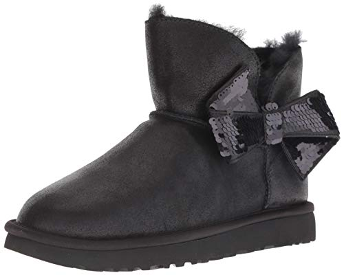 UGG - Stivali Mini Sequin Bow - Black, Taglia:39 EU