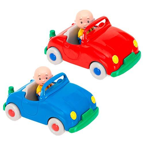Caillou - Vehiculo Pull Back con Figura, Color Rojo (Giochi Preziosi CAL01000)