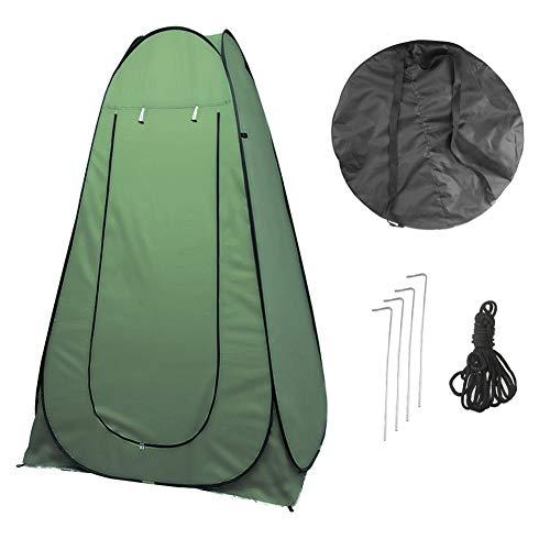 Vinteky 120x120x190cm Acampar Tienda de Ducha Vestuario Impermeable Camping Desplegable Pop Up, Tienda de Campaña Portátil para Privacidad al Aire Libre, (Verde)