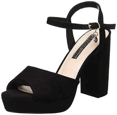 XTI 35000, Zapatos con Tira de Tobillo para Mujer, Negro, 40 EU
