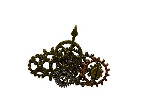 Unbekannt Steampunk Ring mit Zahnrädern, Uhrwerk, Flügeln (groß)