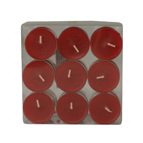 Wenzel-Kerzen 31-1522-18-26 Teelichte, Rubin in Kunststoffhülle, ca. 4 h Brenndauer, Pack a 18 Stück