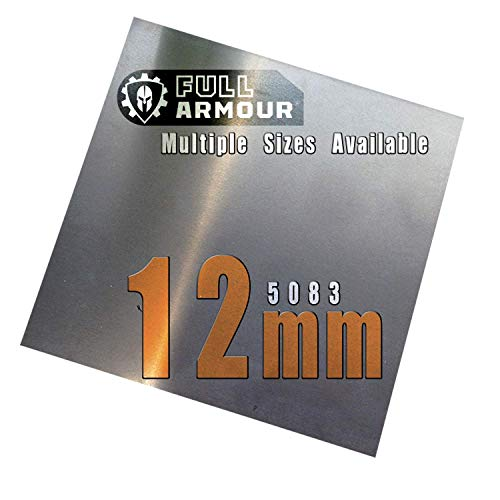 Placa de aluminio de 12 mm, 5083 100mm x 100mm (10cm x...
