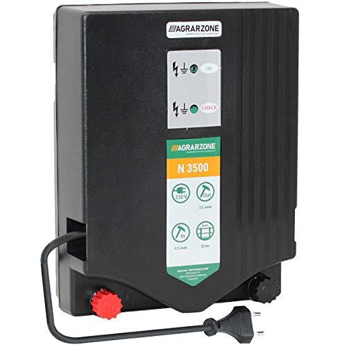 Agrarzone N3500 Weidezaungerät 230V, 5,5 Joule | Elektrozaungerät mit Strom für Weidezaun | Optimale Hütesicherheit | Weidegerät für Einsatz auf Weide | Für Pferde, Rinder & Kleintiere