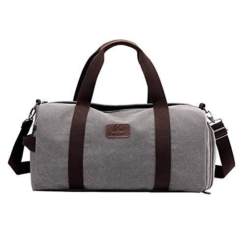 Petay - 1 bolso de mano, bolsa de tela, bolsa de viaje, bolsa de deporte, unisex, gris (Gris) - ILHRSNFLCU
