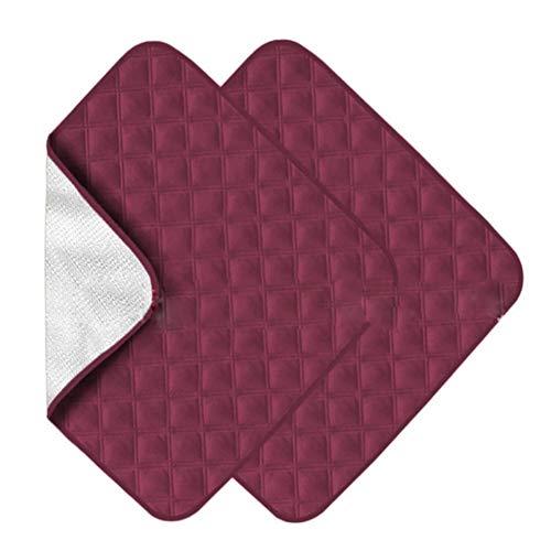 HEWYHAT Inkontinenzauflage Matratzenschoner Waschbar 2 Pack, Ultra Absorbent wasserdichte Sitzschutzpolster, vierschichtiger Stuhlbezugsschutz, wiederverwendbar 22