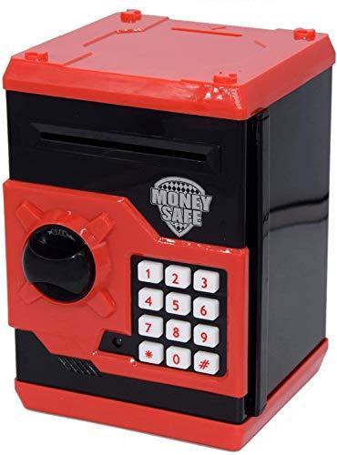 Auped Elektronische Spardose für Kinder, Spardose Passwort Sparschwein Spielzeug Festival Geburtstag Geschenke für Kinder (Rot)