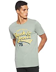 JACK & JONES Camiseta Manga Corta Hombre Amarilla Jjelogo