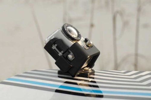 Xsories Kite Fin Fissaggio per Wakeboard/Kiteboard, Compatibile con GoPro Hero/Hero2, Nero