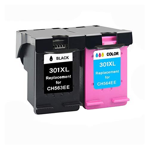 CMDZSW 1 Paquete de Cartuchos de Tinta, Compatible con HP 301301XL Tinta DeskJet 1050 2050 3050 2150 1510 2540 Impresora Llena de Tinta (Color : 2)
