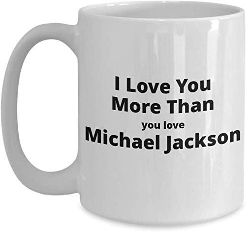 Shinanla Lustige Kaffeetasse für Liebhaber Michaels Jackson. Großes einzigartiges Geschenk des Valentinsgrußes für ihn oder sie.