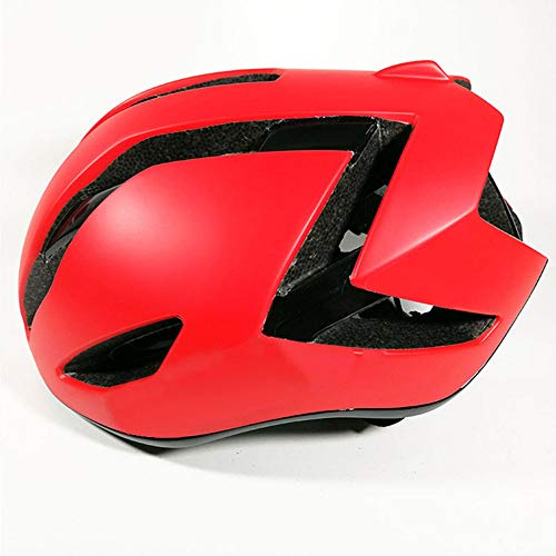 Casco Bicicleta ZWRY Adulto Niño Ultralight Aero Air Racing Road Bike Aerodynamics Wind Men Sports Aero 54-60 cm Rojo 1