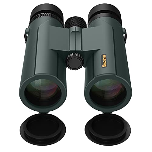 10x42 Binoculars for Bird Watching, Jesoumer Binoculars for Adults and Kids with Phone Mount to Capture Moments, Roof Prism Binoculars with BAK4 for Bright Clear View, Larger Φ21.5mm FMC HD Binoculars