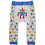 Huggalugs Baby Toddler Boys Girls Unisex Robot Legging Pant 6-12m